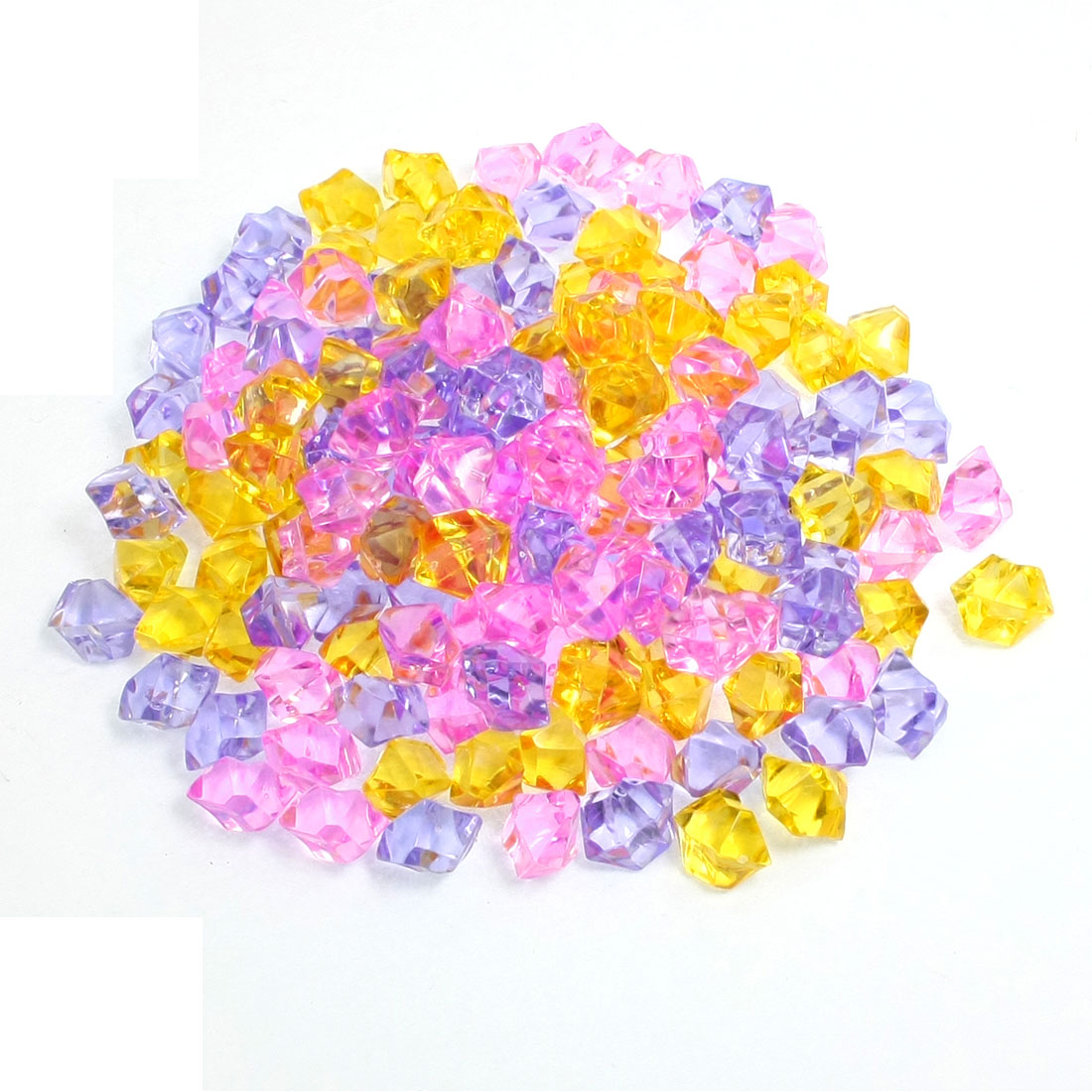 150Pcs Assorted Colors Plastic Beads Aquarium Ornament Crystal Stone