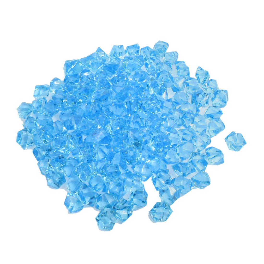 150Pcs Clear Blue Plastic Crystal Ornament for Fish Tank