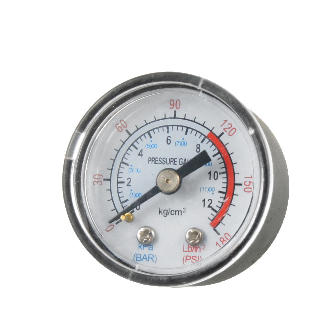 "0-180 PSI 1/8"" NTP Male Compressor Air Pressure Gauge Black White"
