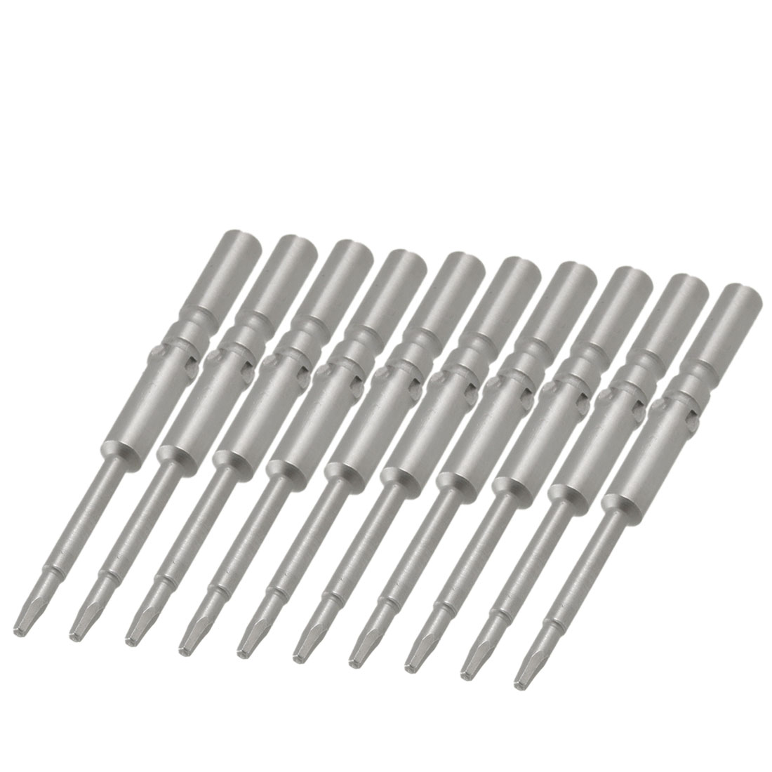 10 Pcs 5mm Round Shank Magnetic 2.5mm Tip Hex Screwdriver Bits Tool
