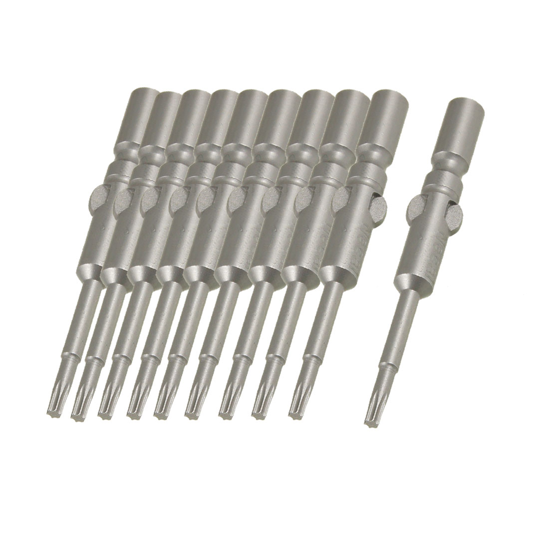 10 Pcs 2.3mm Tip 60mm Long Magnetic Torx Screwdriver Insert Bits Tool