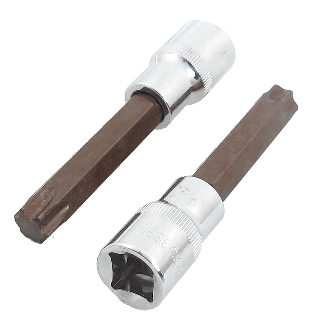 "2 Pcs T60 33/64"" Torx Head Screwdriver Link 1/2"" Square Mechanic Drive Socket"