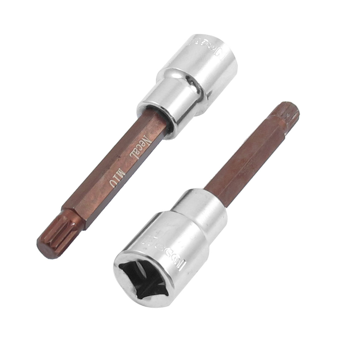 "2 Pcs M10 5/14"" Triple Square Head Screwdriver Link 1/2"" Mechanic Drive Socket"