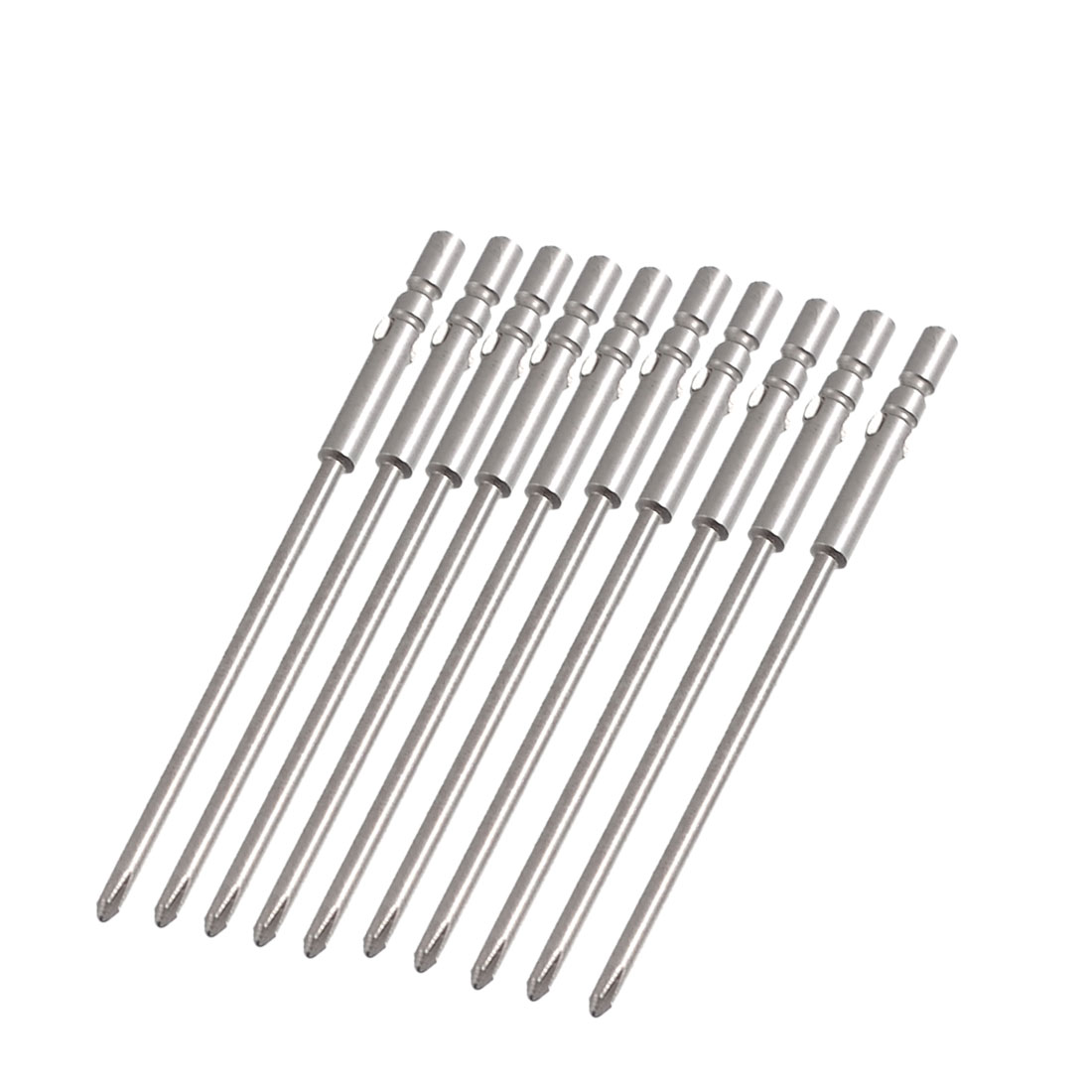 10 Pcs 4mm Shank 80mm Length 2.5mm Phillips PH1 Magnetic Screwdriver Bits