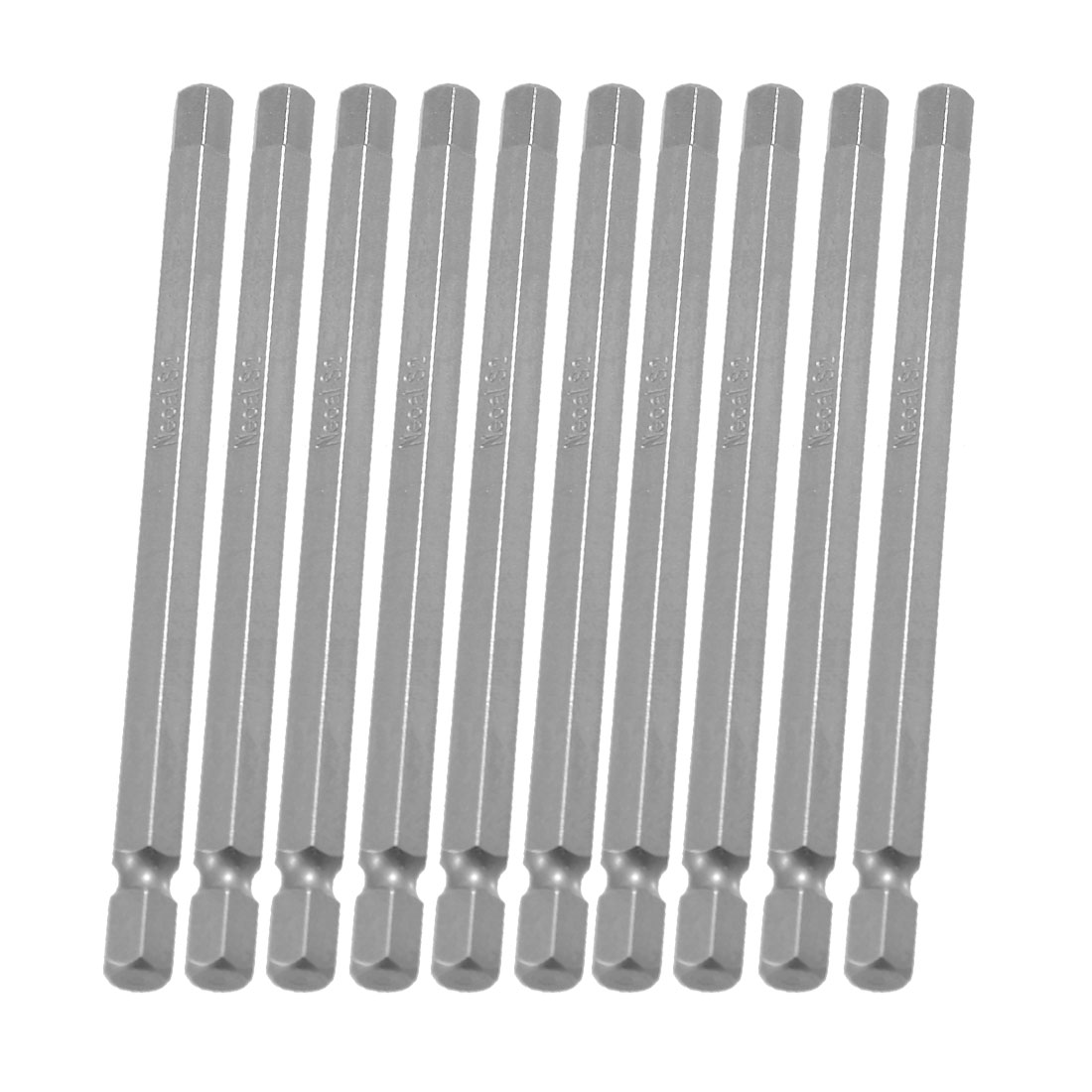 "10 Pcs 1/4"" x 100mm x 6mm Magnetic Hex Hexagon Tip Screwdriver Bits"