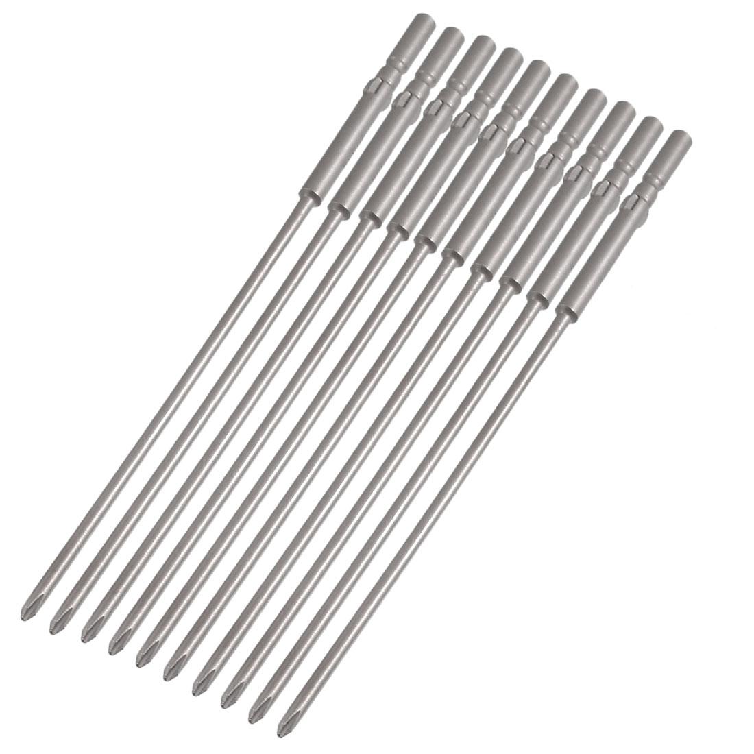 10 Pcs 5mm Shank 150mm Length 3mm Phillips PH1 Magnetic Screwdriver Bits