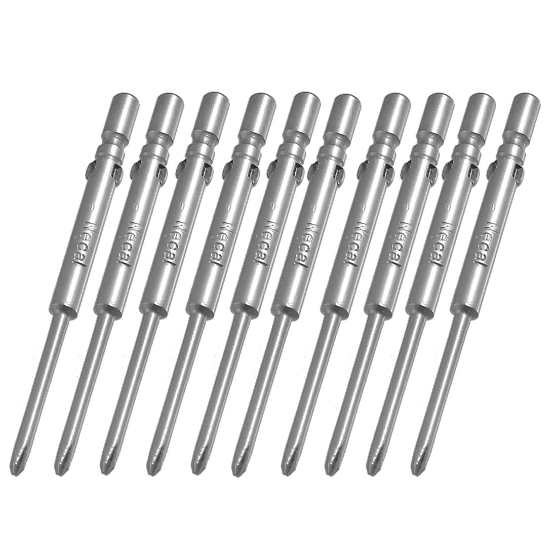 Gray Magnetic 4mm x 60mm x 2mm Phillips PHO Screwdriver Bits 10 Pcs