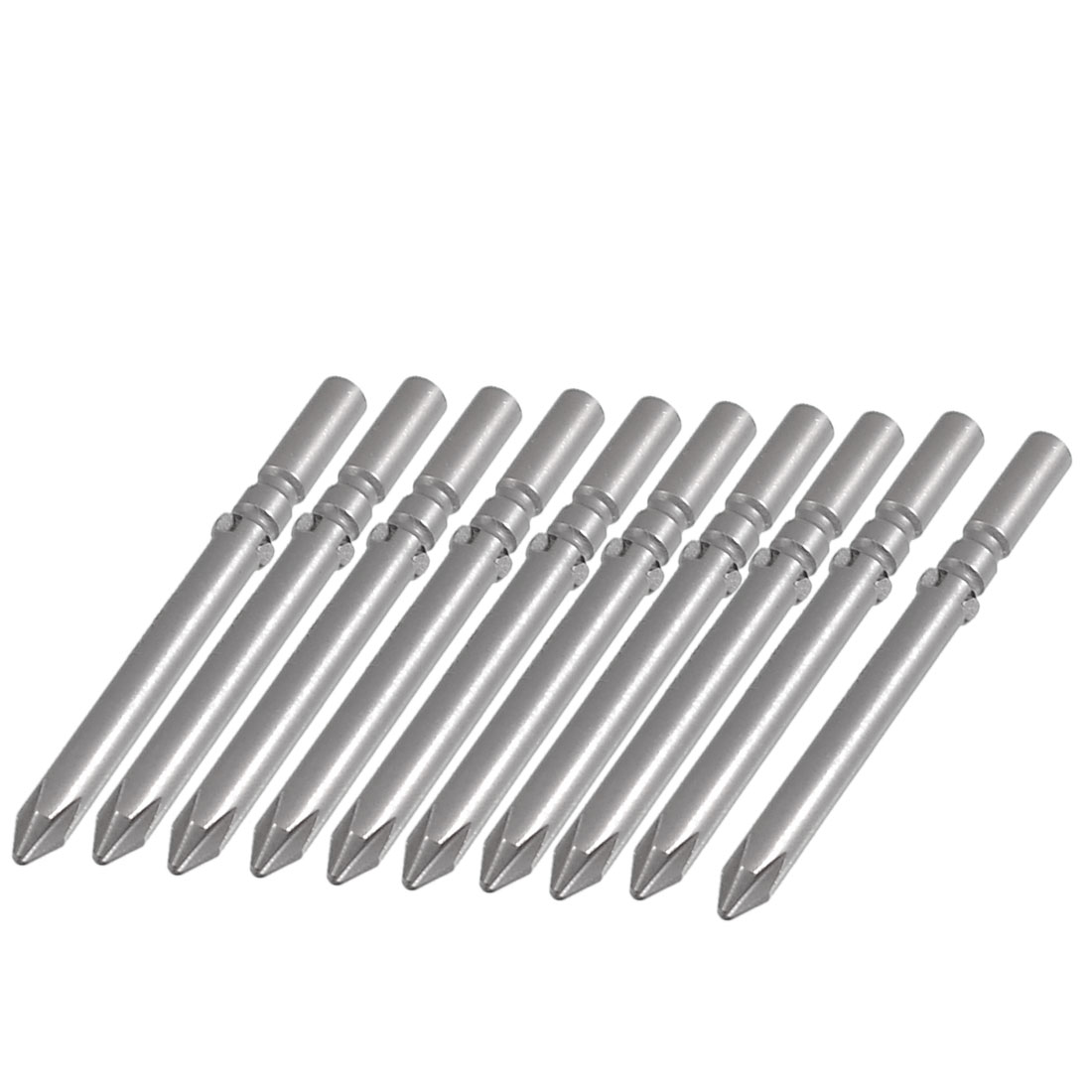 10 Pcs 60mm Length 5mm Dia Phillips PH1 Magnetic Screwdriver Bits