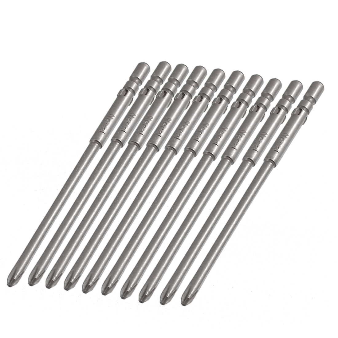 10 Pcs 4mm Shank 80mm Length 3mm Phillips PH1 Magnetic Screwdriver Bits