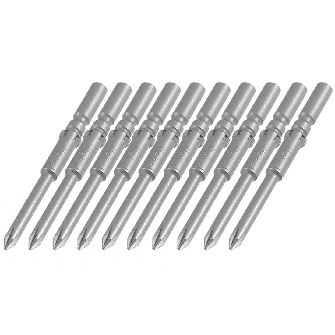 10 Pcs 5mm x 60mm x 3.5mm Magnetic Phillips PH0 Screwdriver Bits