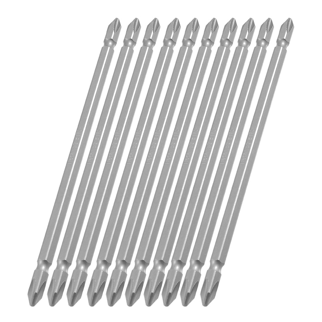 "10Pcs 1/4"" Hex Shank 150mm Long 6mm Double End PH2 Phillips Screwdriver Bits"