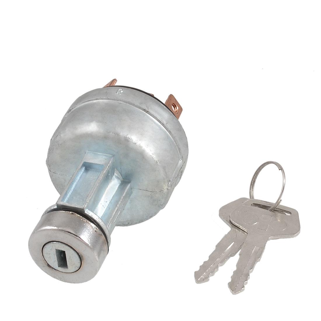 6-pin Terminal Metal Electric Door Lock w 2 Pcs Keys for Komatsu 200 Excavator