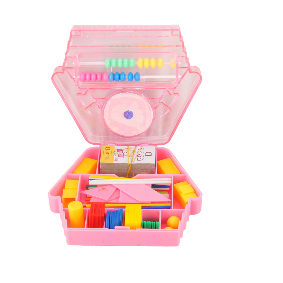 Pink Abacus Jigsaw Puzzle Toy for Child Early Education
