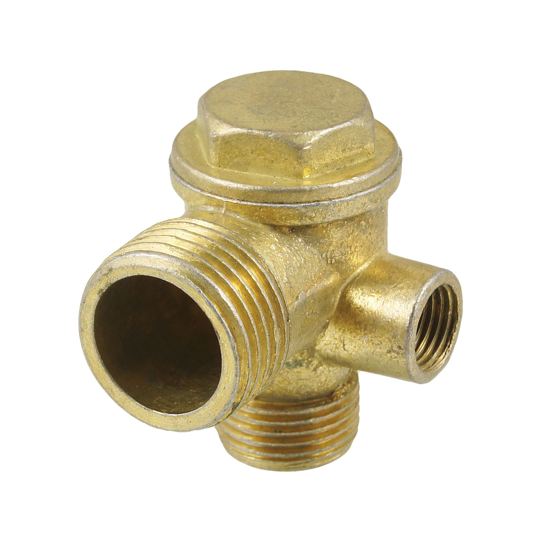 "Brass 1/2"" 3/8"" Male Thread 3 Way Water Air Pipe Connector Coupling"