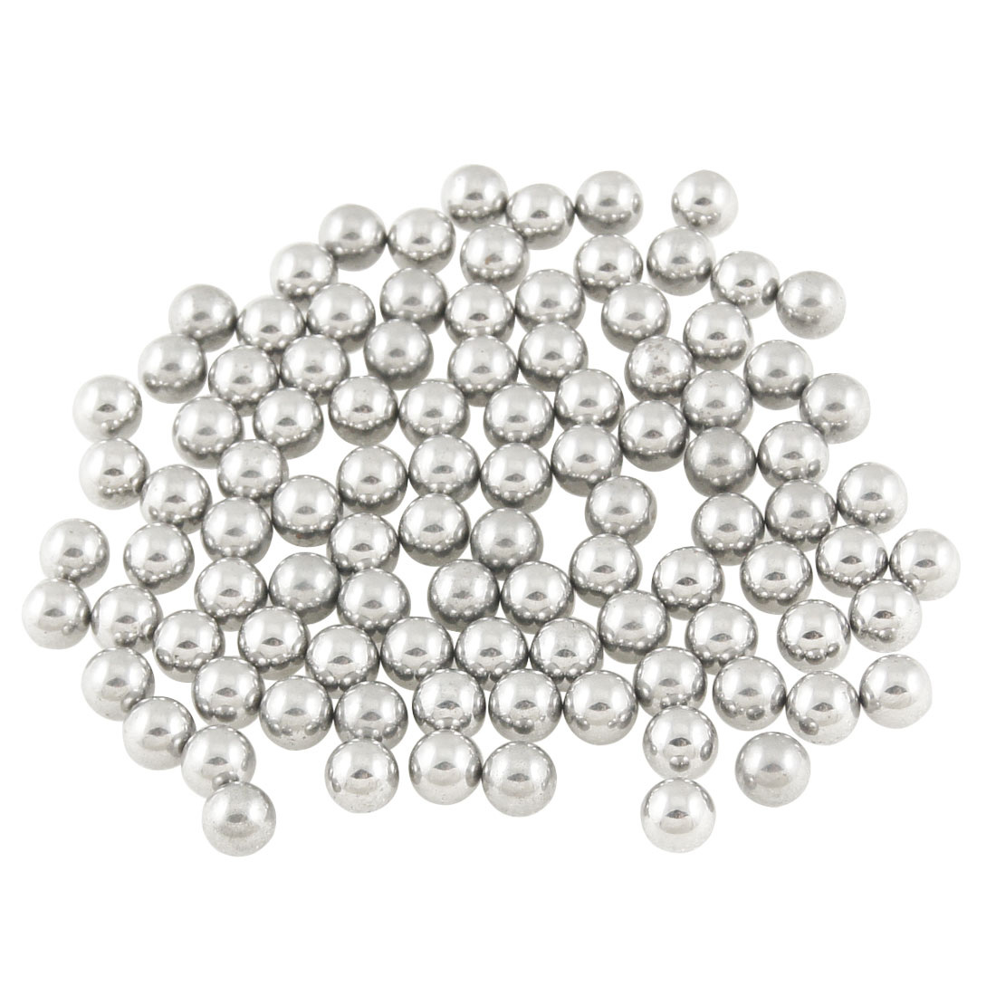 100 Pcs 5mm Diameter Silver Tone Steel Bearing Ball for Bicycle Repair