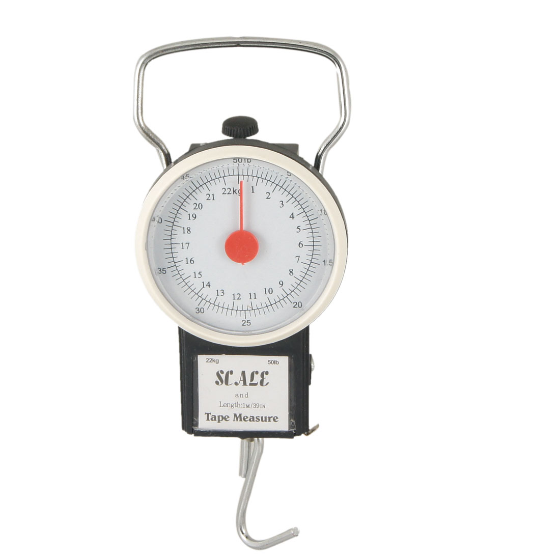 Black Plastic 22Kg Portable Dial Scale with Tape Measure