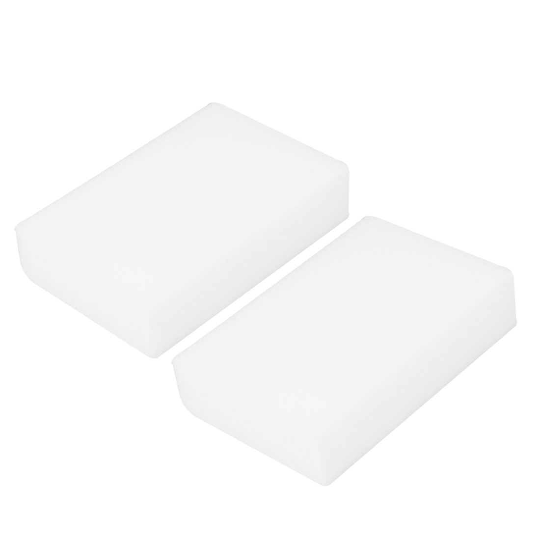 White Rectangular Pad Cleaning Sponge for Kitchen Products 2 Pcs