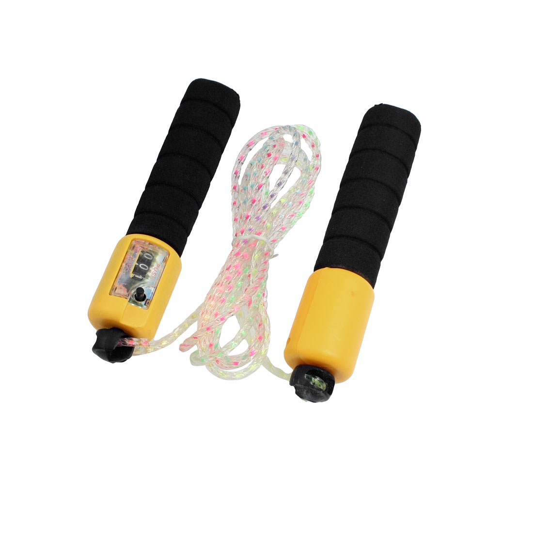 Training Black Yellow Nonslip Grip Counter Skipping Jumping Rope 2.5M