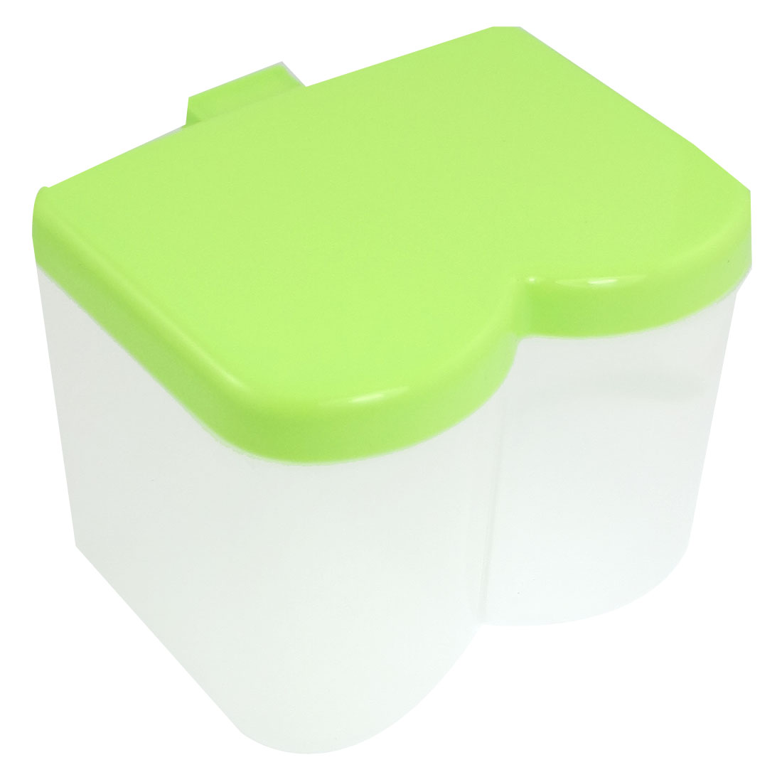 Kitchen 2 Compartments Spices Condiment Dispenser Container Box Yellow-green