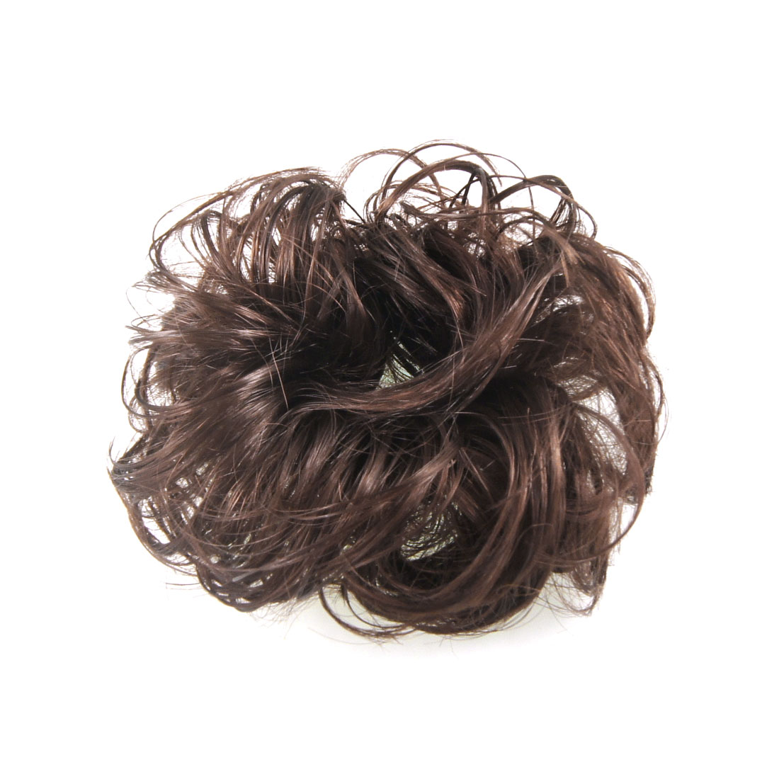 "5.5"" Diameter DIY Party Hair Wig Wave Hairpiece Bun Light Brown for Ladies"