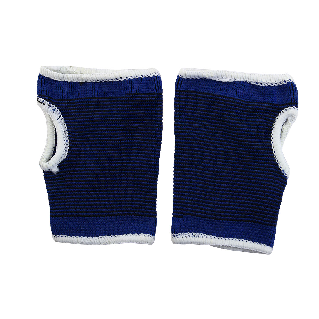 Sports Black Pinstriped Print Palm Support Protectors Blue 2 Pcs