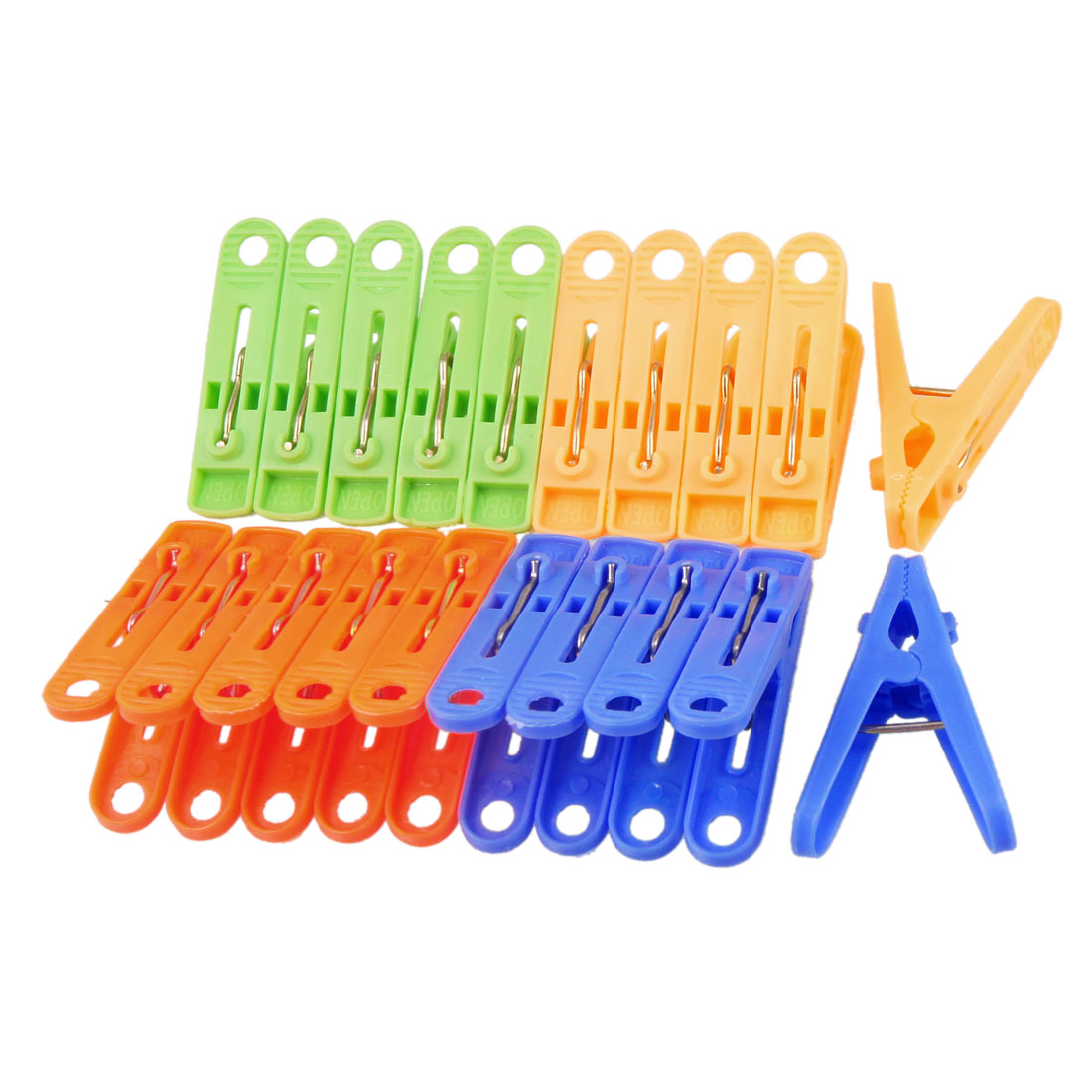 20 Pcs Assorted Colors Nonslip Grips Clothespins Clothes Clips Pegs