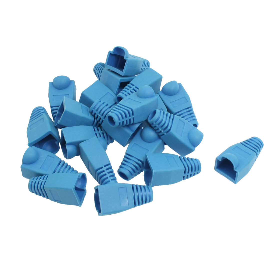 Network Cable Boots Cap Cover for RJ45 Connectors Blue 20 Pieces