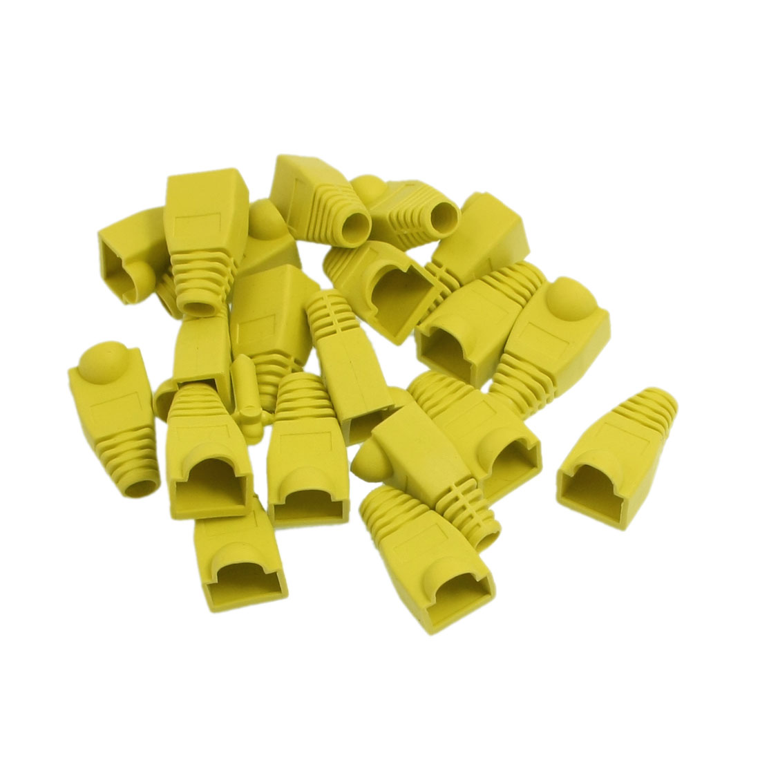Anti Dust Yellow Plastic Boots Cover Cap for RJ45 20 Pieces