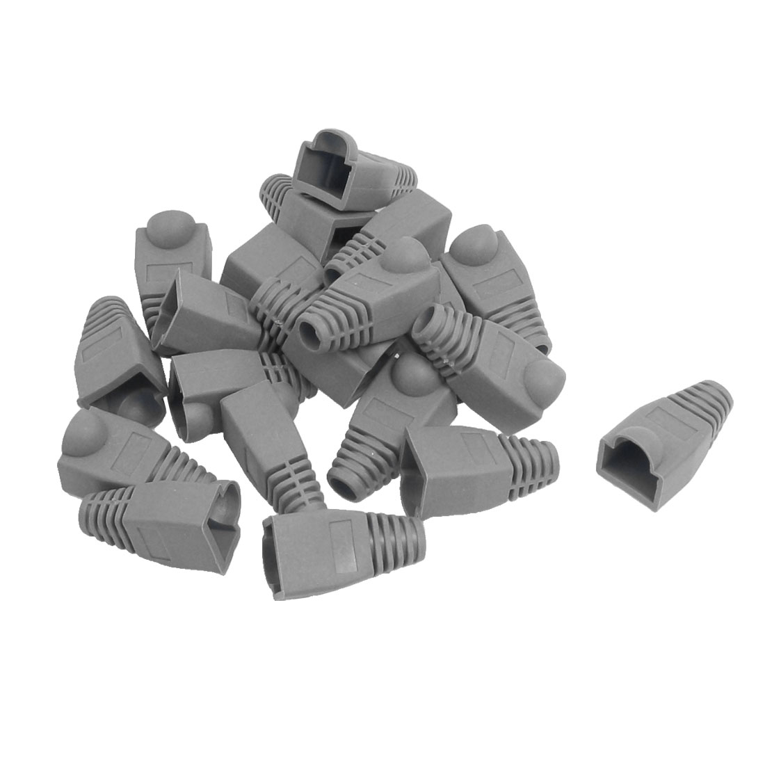 Network Cable Boots Cap Cover for RJ45 Connectors Gray 20 Pieces