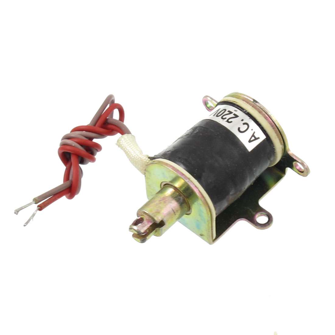 AC 220V 10mm 0.03Kg Force Push Type Open Frame Solenoid Electromagnet