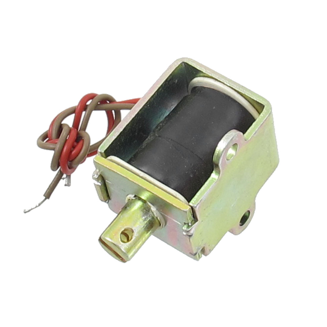 AC 220V 10mm 0.49Kg Force Pull Type Open Frame Solenoid Electromagnet