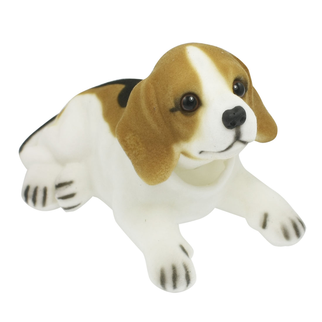 White Black Brown Bobbing Nodding Beagle Dog for Car Auto