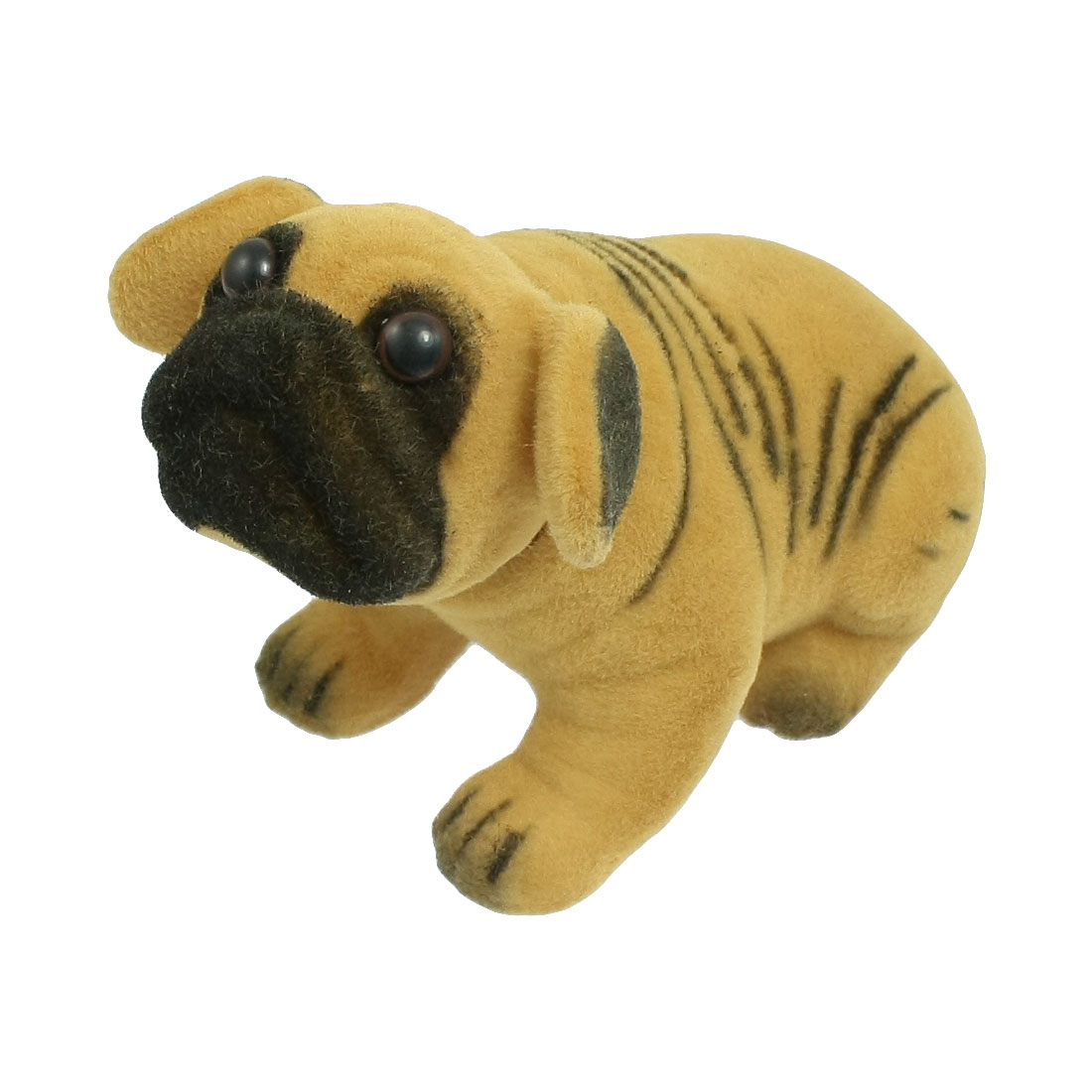 Brown Black Stripe Prints Pug Nodding Dog for Car Auto