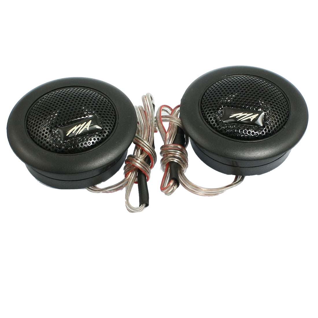 2 Pcs Black Dome Car Auto Audio System Tweeter Speakers 120W