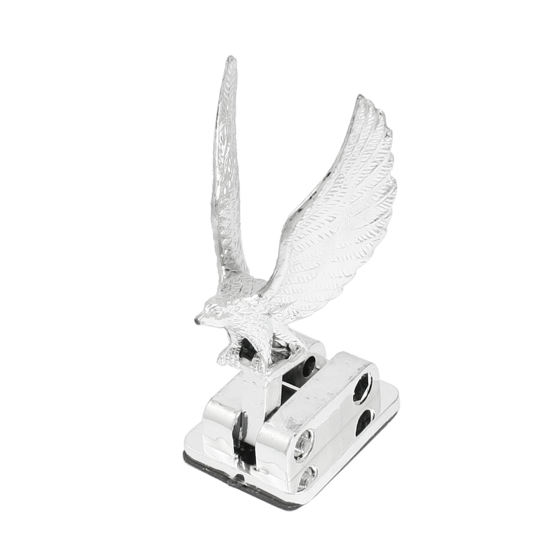 Car Exterior Decorative Silver Tone Eagle 3D Stand Sticker