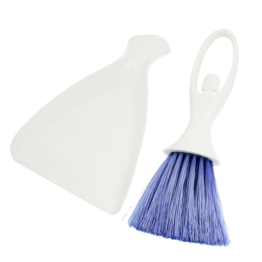 Blue White Car Air Conditioner Cleaning Sweeping Whisk Broom Dustpan Set