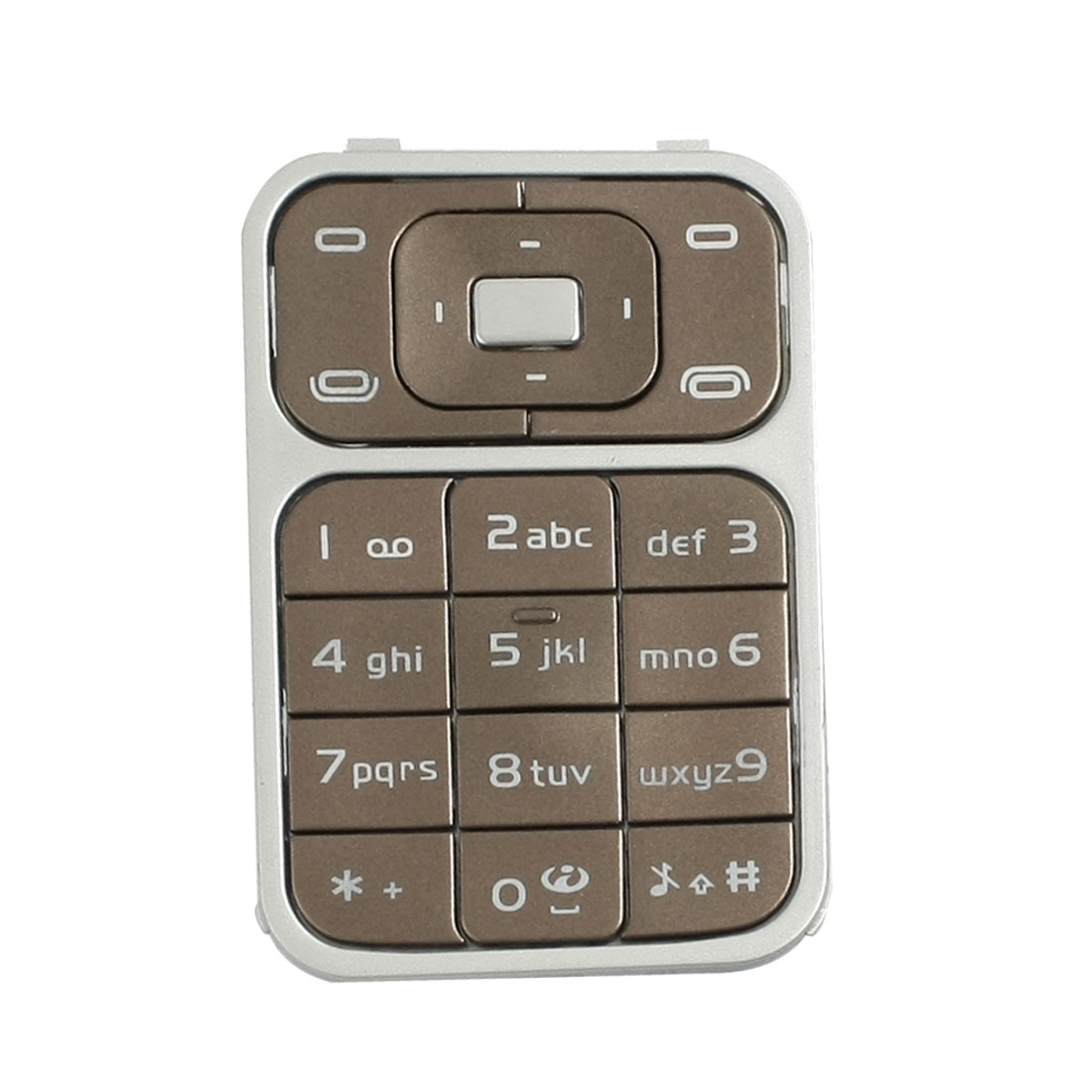 Coffee Color Repairing Plastic Silicone Keyboard Keypad for Nokia 7390