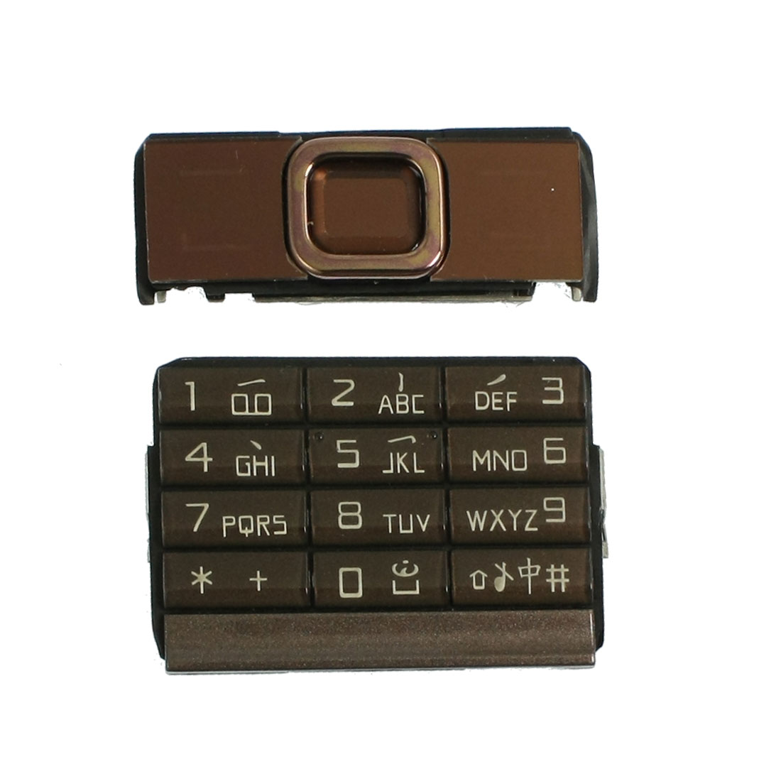 Brown Repairing Plastic Silicone Keyboard Keypad for Nokia 8900