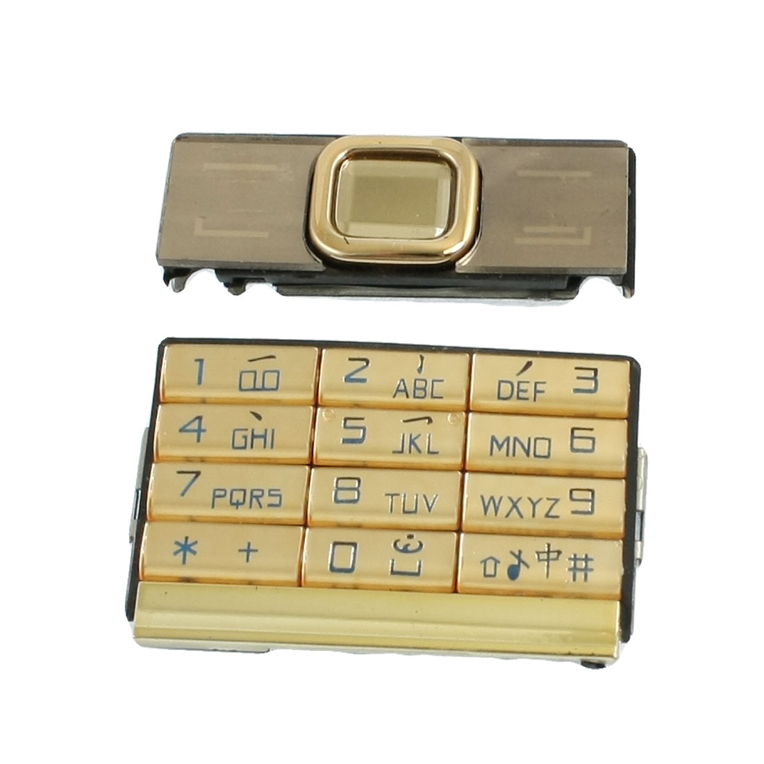 Repair Parts Keypad Keyboard Button Gold Tone for Nokia 8900