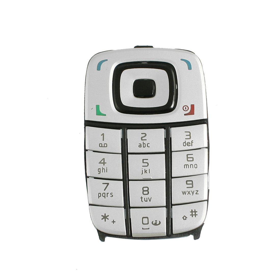 Silver Tone Function Key Replaceable Keyboard for Nokia 6101