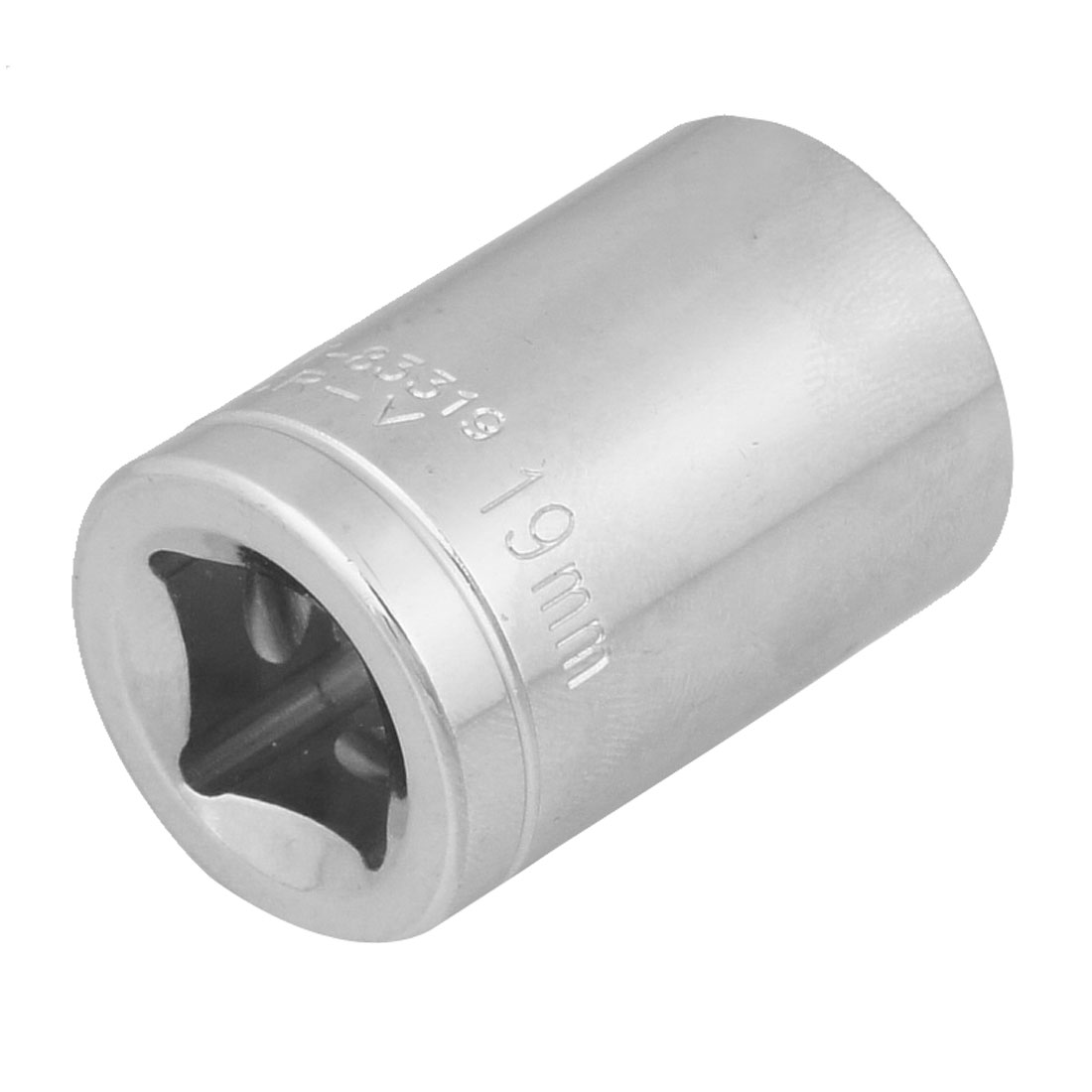 "19mm 6 Point Hex Socket 1/2"" Square Drive Hardware Tool"