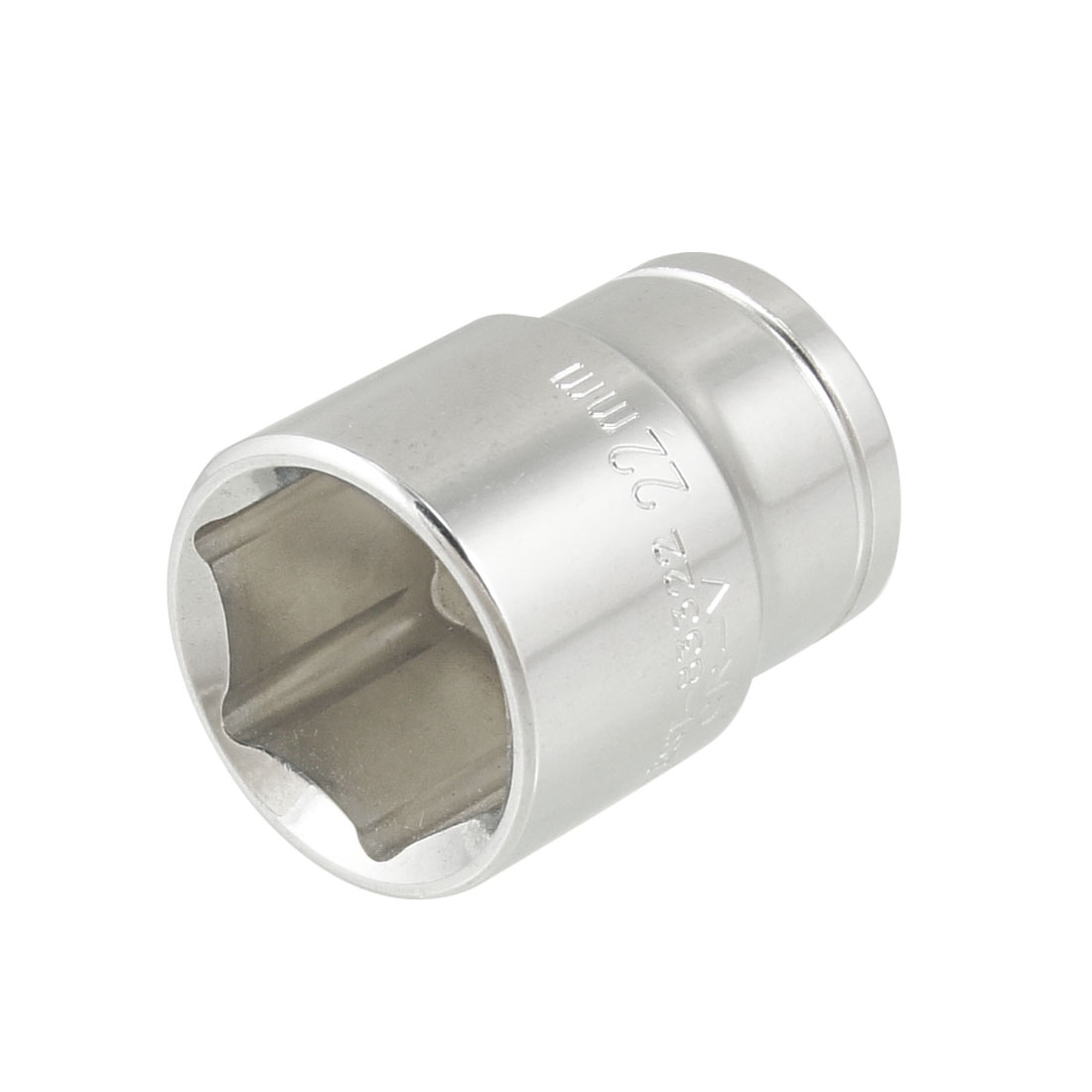 "22mm Hex 1/2"" Square Drive Chrome Coated Metal 6 Points Socket"