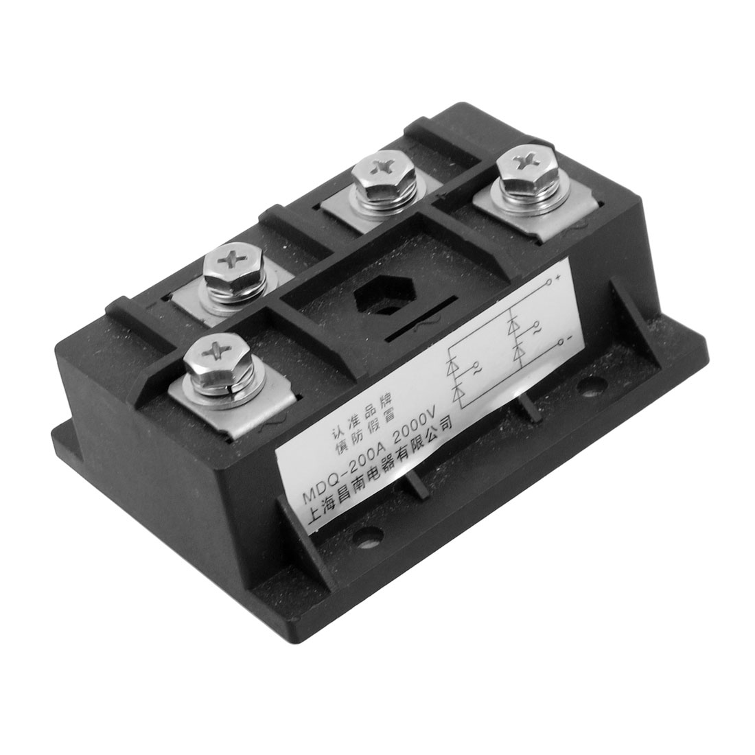 Black 4 Terminals Rectifier Module Transistor Semiconductor AC 2000V 200A