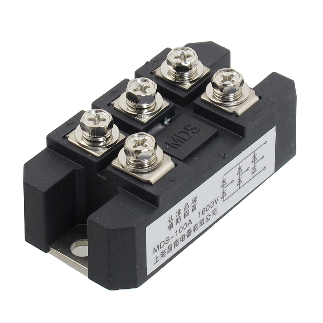 AC 1600V 100A 5 Terminals Circuit Diode Rectifier Module Transistor Semiconductor