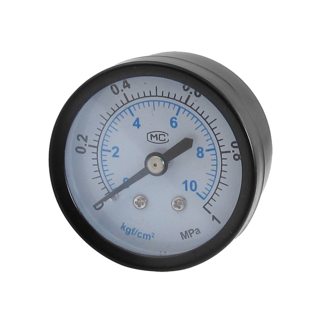 "0-1MPa 1/4"" PT Male Thread Black Metal Case Pneumatic Pressure Gauge"