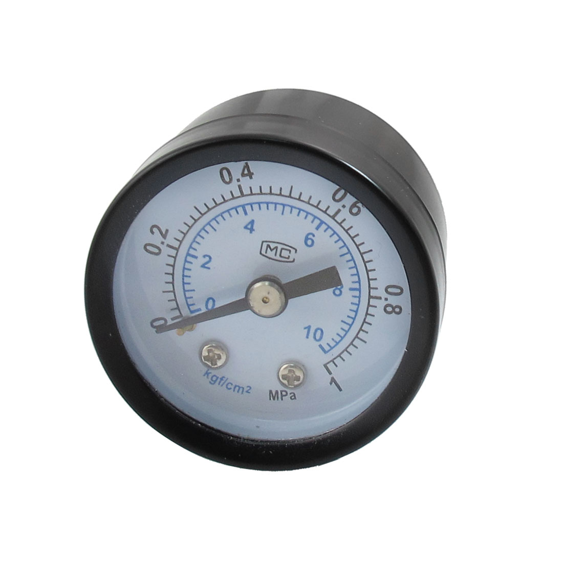 "0-1MPa 1/8"" Male Thread Black Metal Case Pneumatic Pressure Gauge"