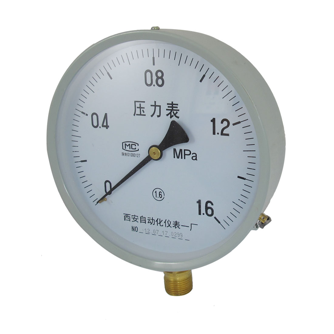 0-1.6Mpa 20mm Thread Horizontal Mount Pipeline Pressure Gauge Y-150
