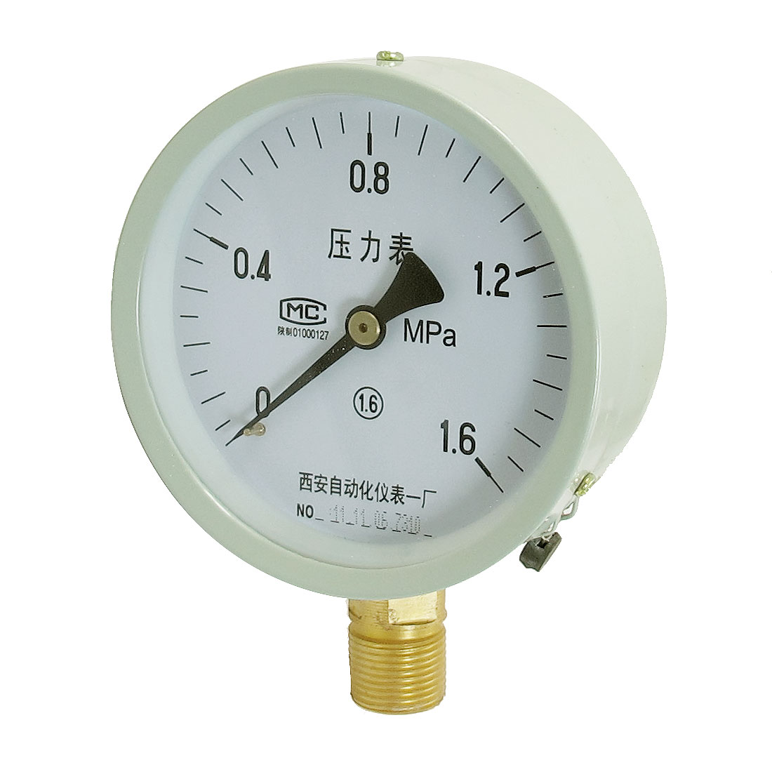 20mm Threaded Round Connector Liquid Pressure Gauge 0-1.6Mpa Y-100