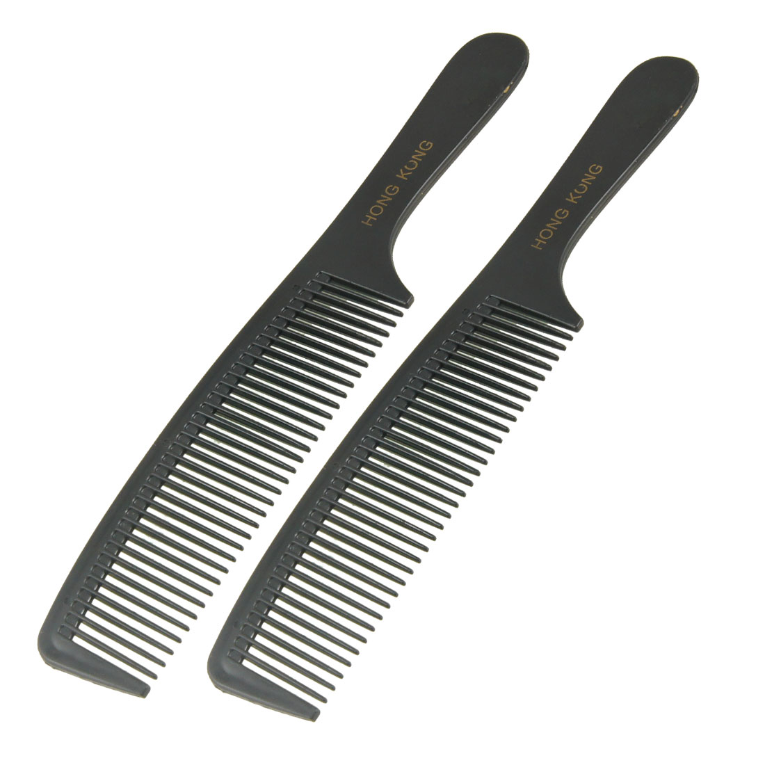 "Lady Beauty Tool 8.3"" Anti-static Black Plastic Handhold Hair Comb 2 Pcs"