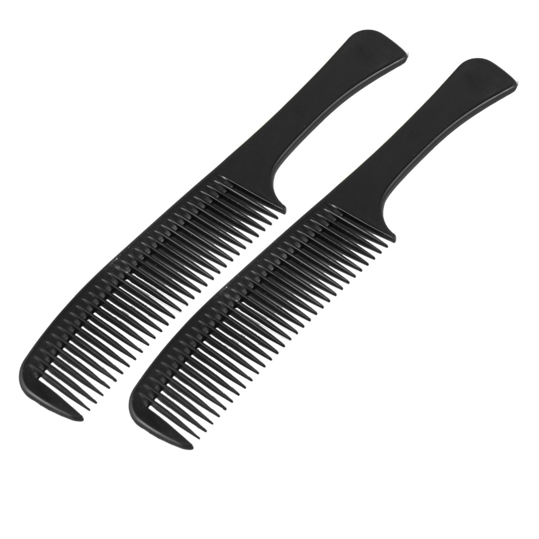 2 Pcs Hairstyle DIY Long Handle Plastic Curly Hair Care Handgrip Comb 9.1""